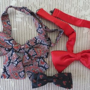 Red and Black Bow Tie Lot